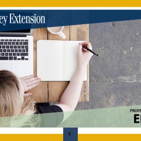 UC Berkeley Extension, Professional Sequence in Editing